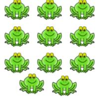 Eleven frogs